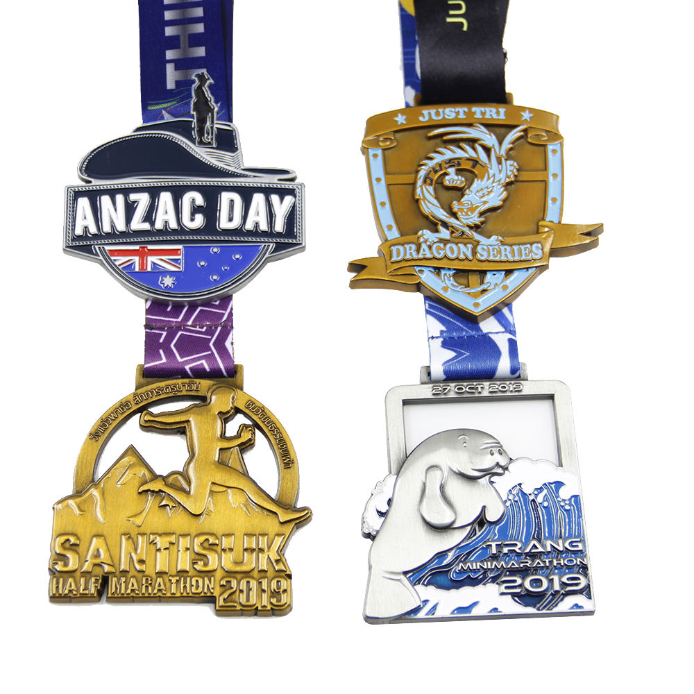 Wholesale Cheap football running marathon metal sport medals custom medal