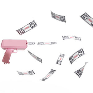 Pink Money Gun Stunt Gun Shooter Cash Money Gun Toys