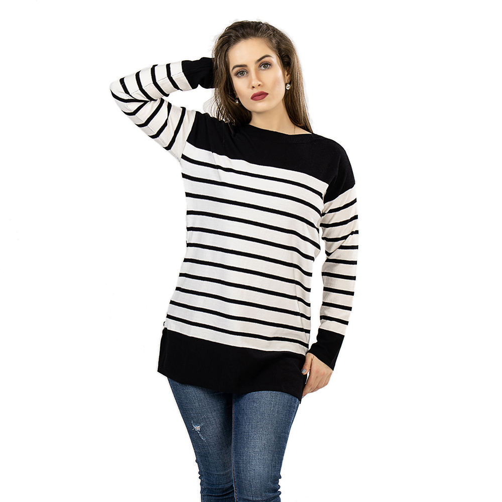 2021 custom boat neck dress sweater with women's knitted zipper sweater dress