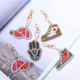5 Pieces Wholesale 5d Diy Diamond Painting Keychain Shoe Hand And Hat Picture Cartoon Design Key Ring Decoration