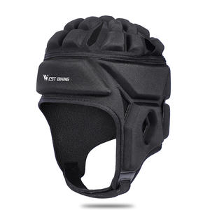 Rugby Helmet Head guard Sports Protective Headgear Velour Skating Riding Hat Head Protector Headgear For Winter Use