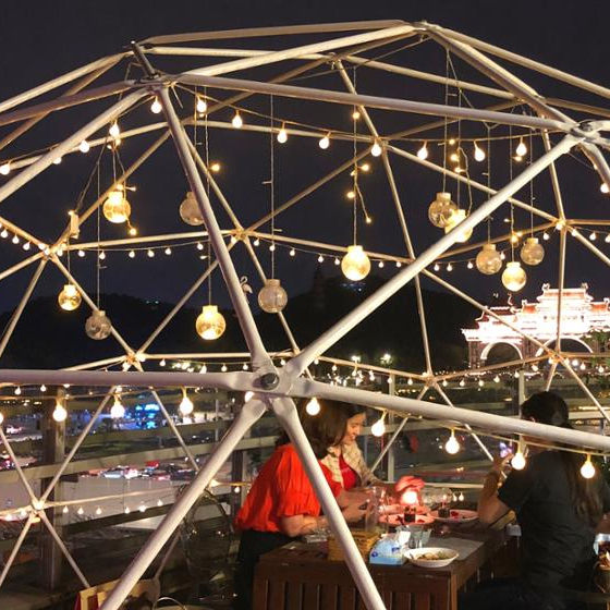 High quality aluminum white glamping geodesic frame geo dome tent for trade show event party