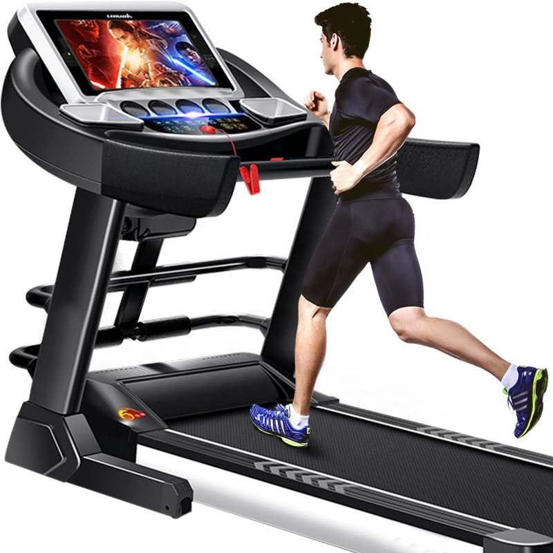 Home Sports Folding Treadmill Fitness Treadmill With Touch Screen Portable 4hp AC Motor Commercial Treadmill