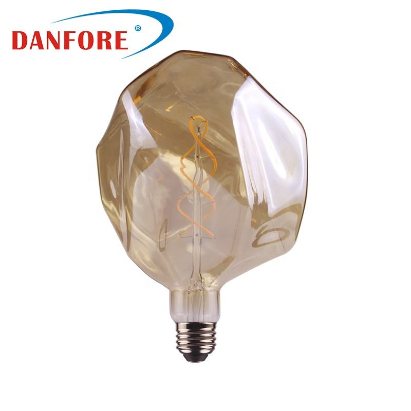 4W 6W 8W G160 Dimmable Smoked glass cover edison screw e27 base filament led bulb