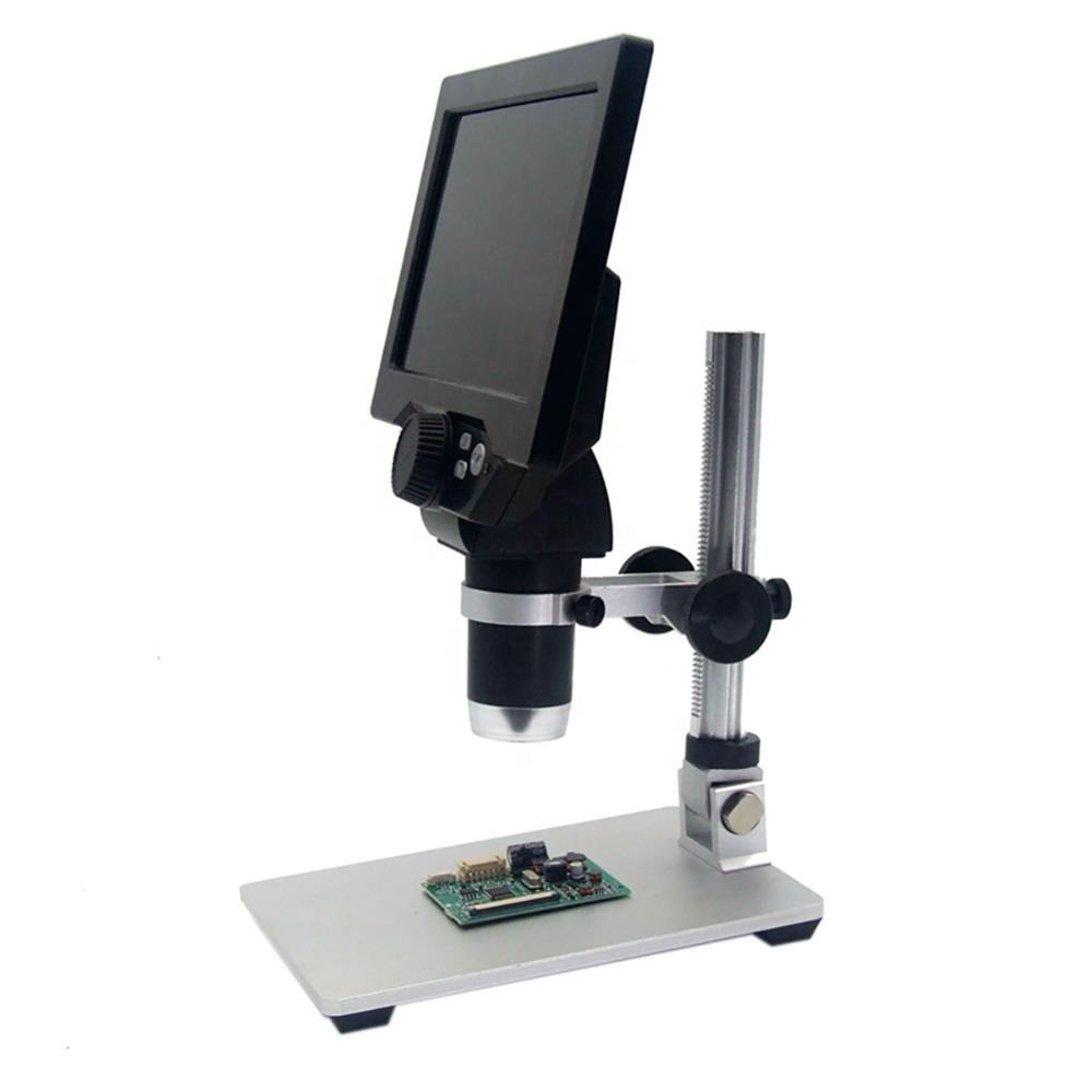 Digital Microscope 1-1200X Electronic Video 12MP 7 inch HD LCD Phone Repair Magnifier Alloy Stand US UK AU EU Microscopes