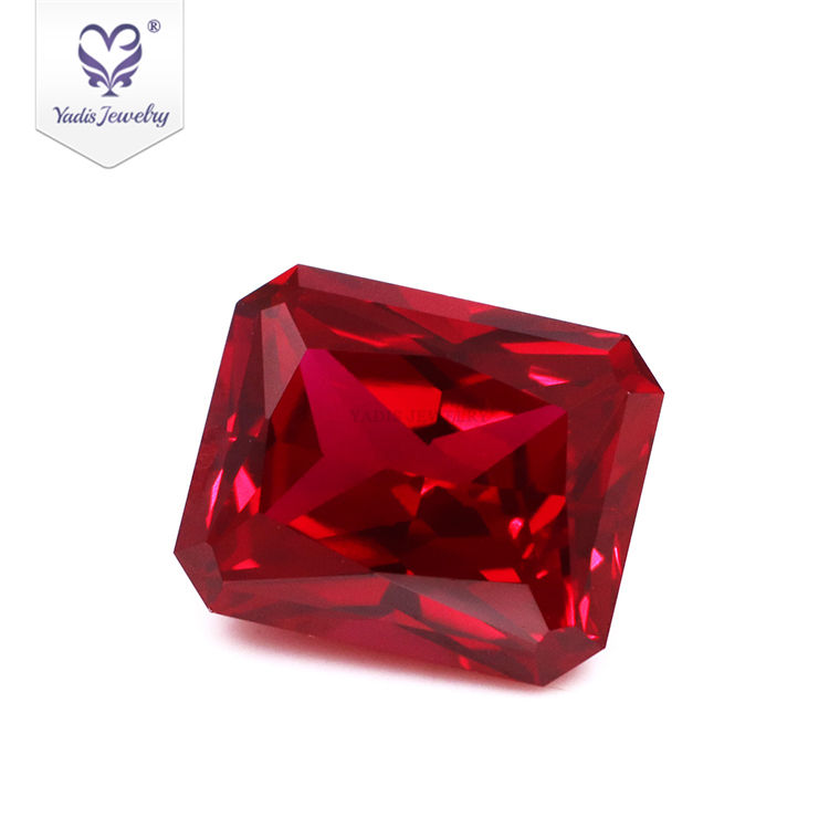 Tianyu Gems Precious stones ruby rectangular octagon shape ruby gemstone lab grown gemstone