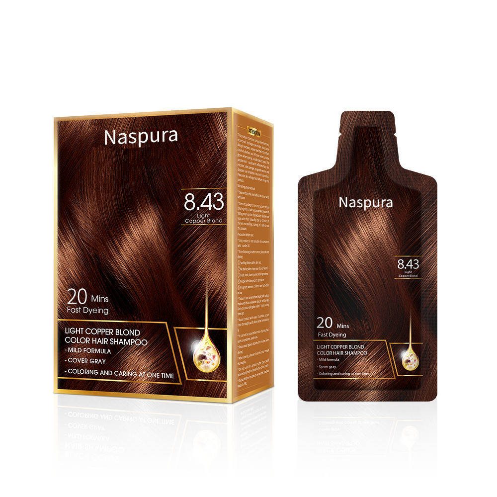 2021 Best Selling Natural Non Allergic Wholesale quickly washing Hair Dye Shampoo Colour Cream Henna 10ml 15ml Private label