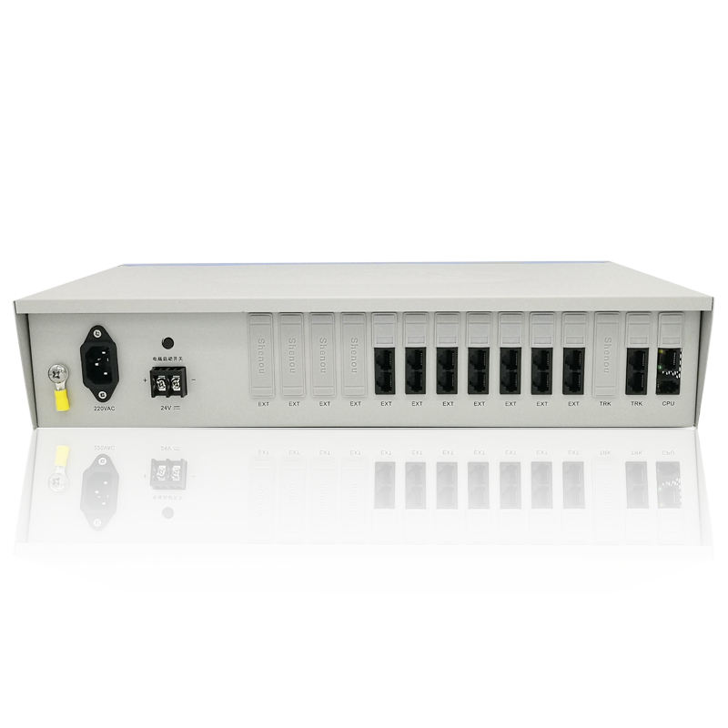 Good quality factory directly ip pbx call recording system 6 outside lines 56 extension for sale