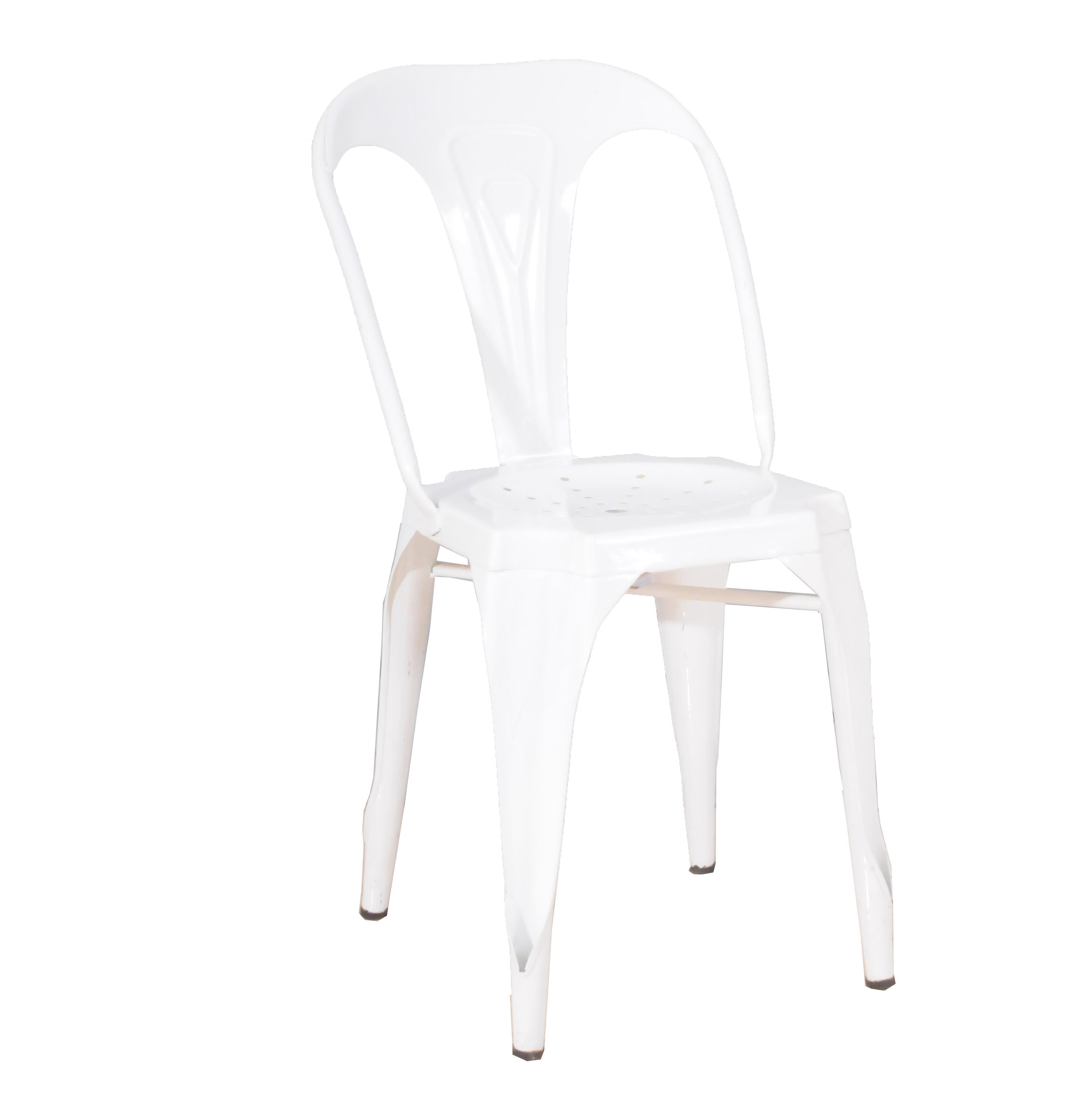 カフェmarais金属椅子スタッカブルポリと樹皮スタイルビストロダイニング側の椅子