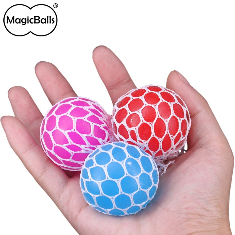 Custom TPR Grape Stress Ball Mesh Squishy Ball Squeezing Stress Relief Ball For Kids And Adults