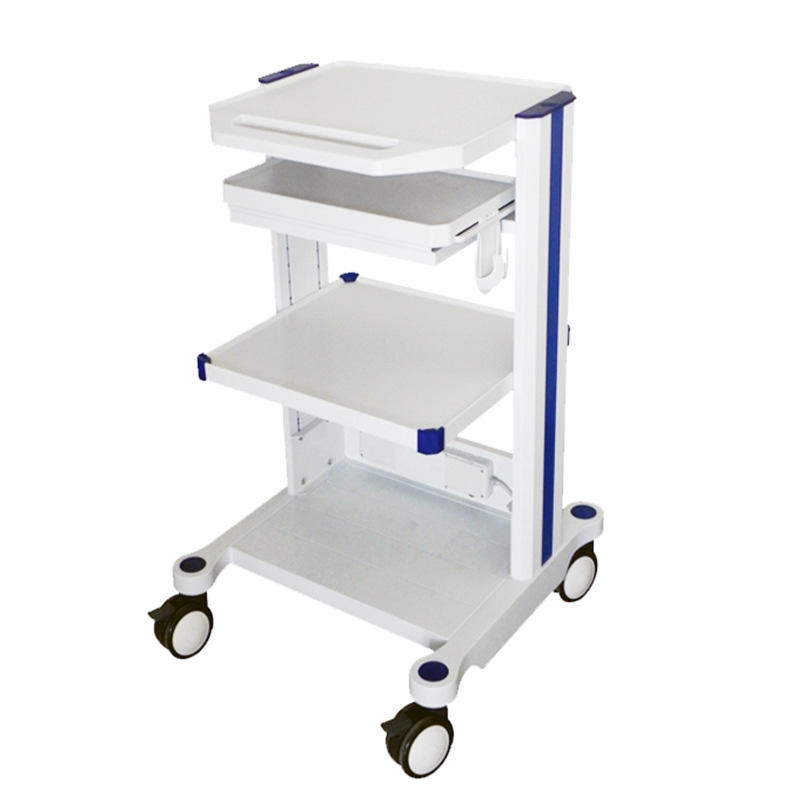 Factory Cheap Price OEM Made Small Equipment Trolley Hospital Computer Trolley