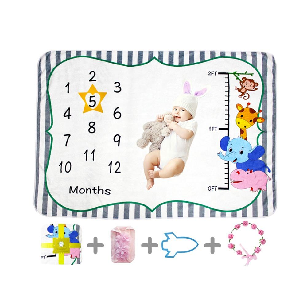 Wholesale China cheap and high quality 100%polyester flannel fleece minky muslin swaddle baby monthly milestone blanket