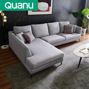 Modern Europe Sofa Living Room Home Office Hotel L Shape Sectional Fabric Modular Sofa Sets