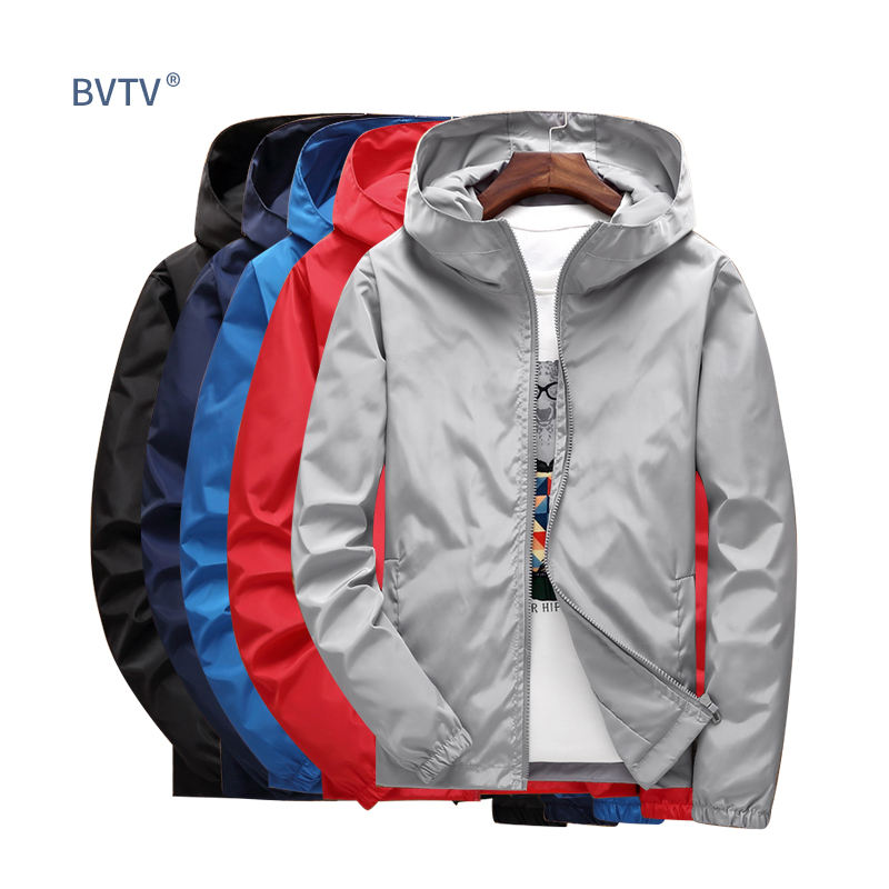 S-7XL Wind Breaker Waterproof Sports Jacket Custom Jacket For Men