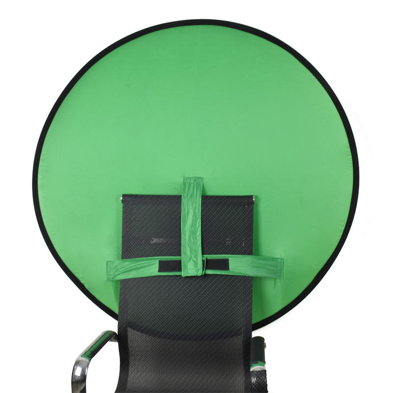 Green Portable Background for Video Chromakey 2 in 1 Portable Collapsible Webcam Backdrop Photography Studio Background For Live