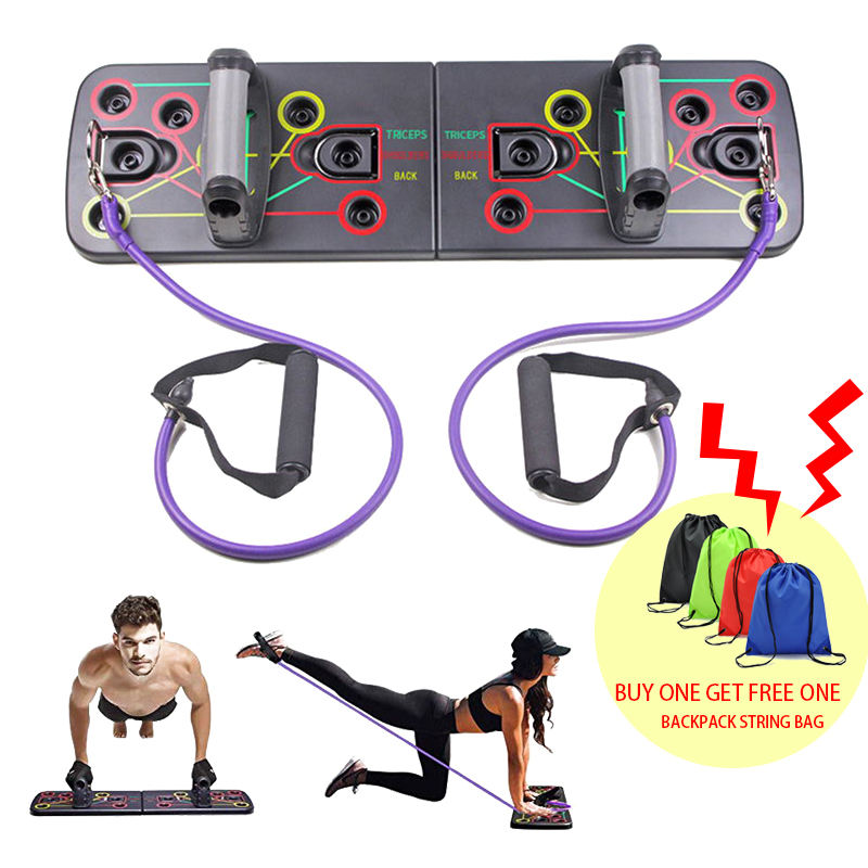Klapp Multifunktionale Gym Fitness 13 in 1 mann und frau training Push-Up Board Mit Pull Seil