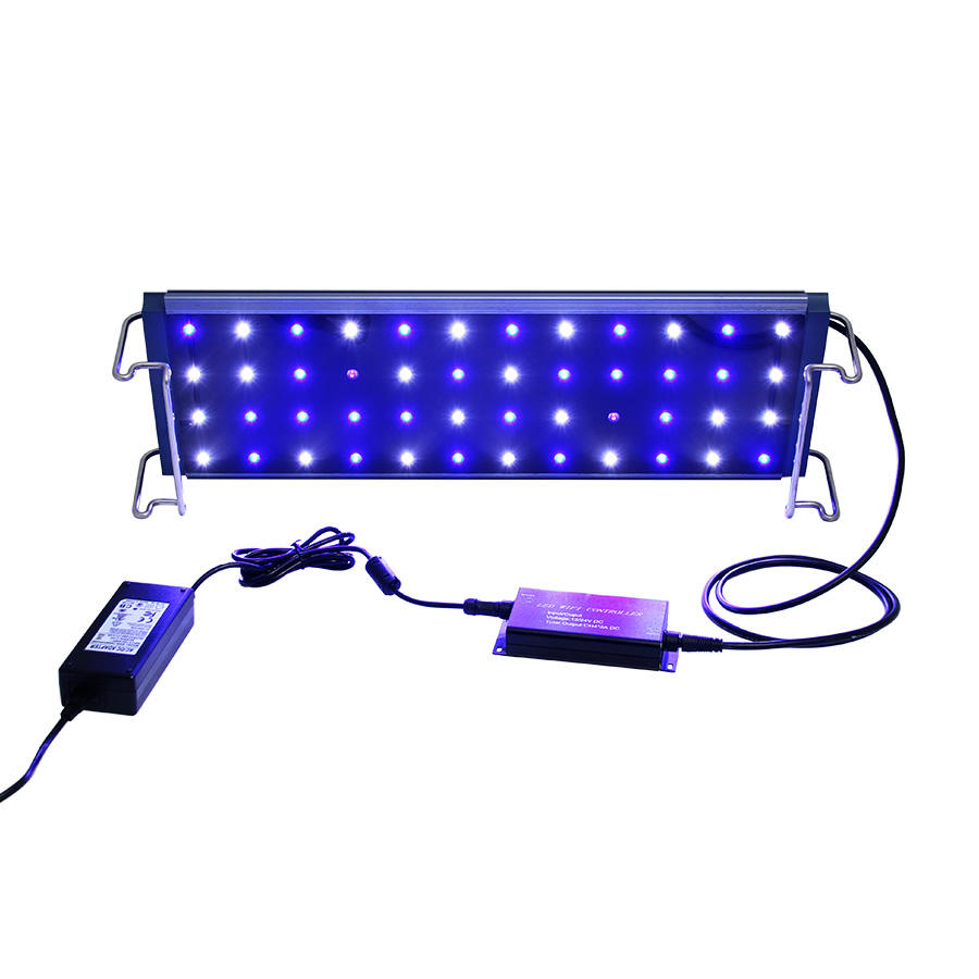 90W 60CM Led Aquarium Light Dimmable Fish Tank Coral Reef WIFI 4-Channel Control WhiteとBlue LED Full Spectrum High Output
