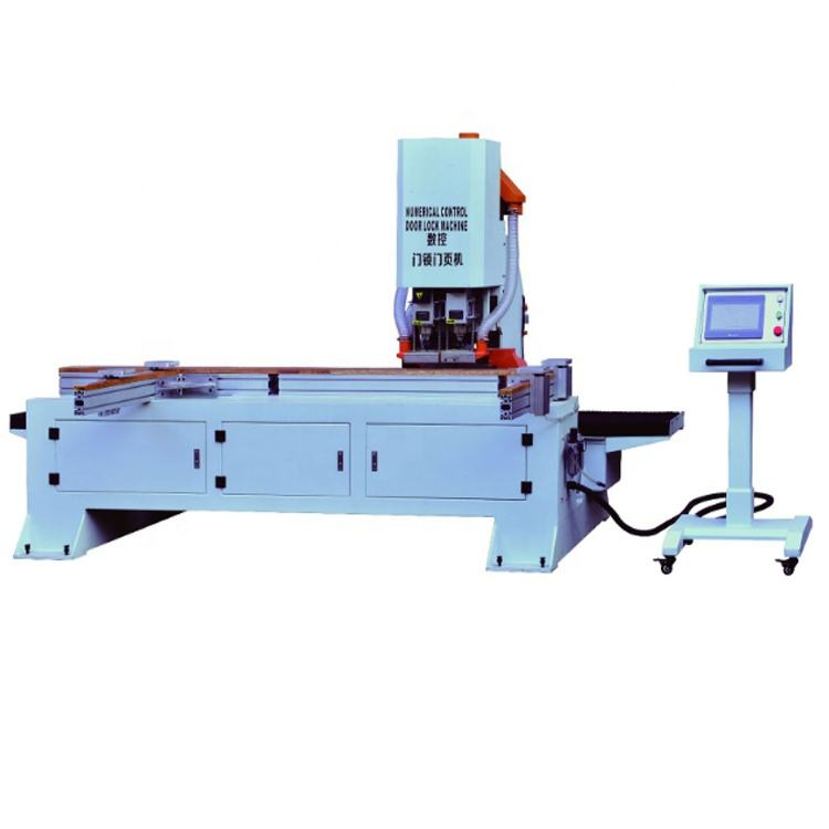 CNC2050 high efficient CNC wood door lock mortising machine and hinge drilling machine