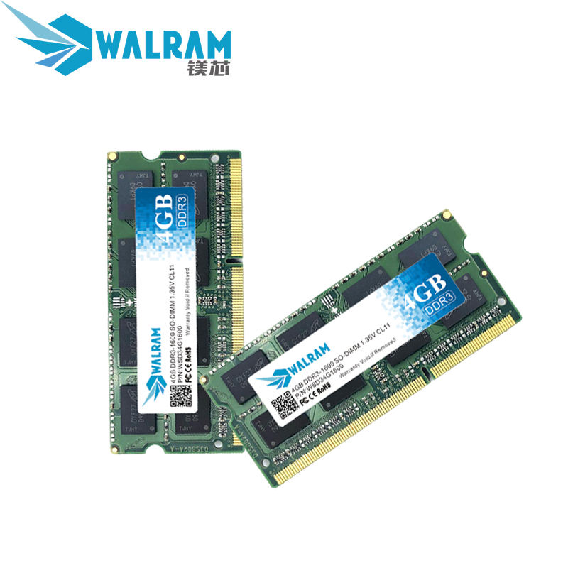 Brand New Manufacture Notebook DDR3 1600mhz PC3L-12800 SODIMM Laptop Ram 4GB Memory