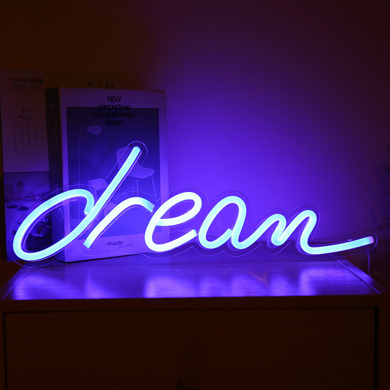 2020 USB powered wall hanging neon Light home decoration led neon back lamp panel custom neon signs for indoor room decoration