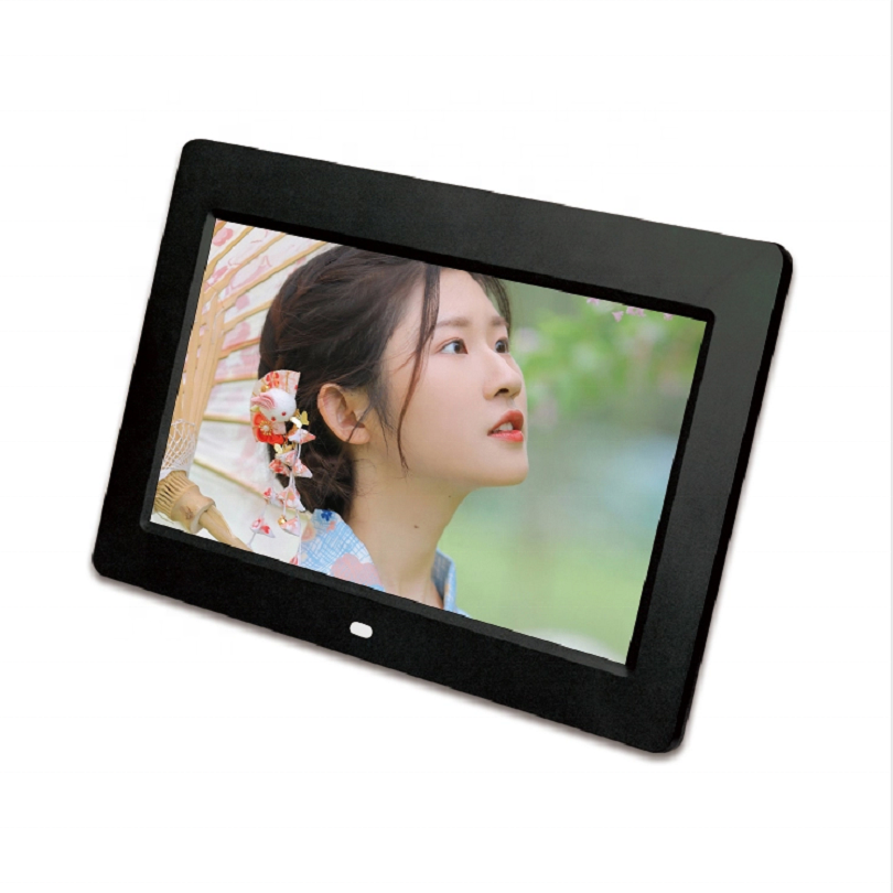 2020 new model 7inch digital photo frame 1024*600 high relsution play video/photo/music/calendar Shenzhen factory