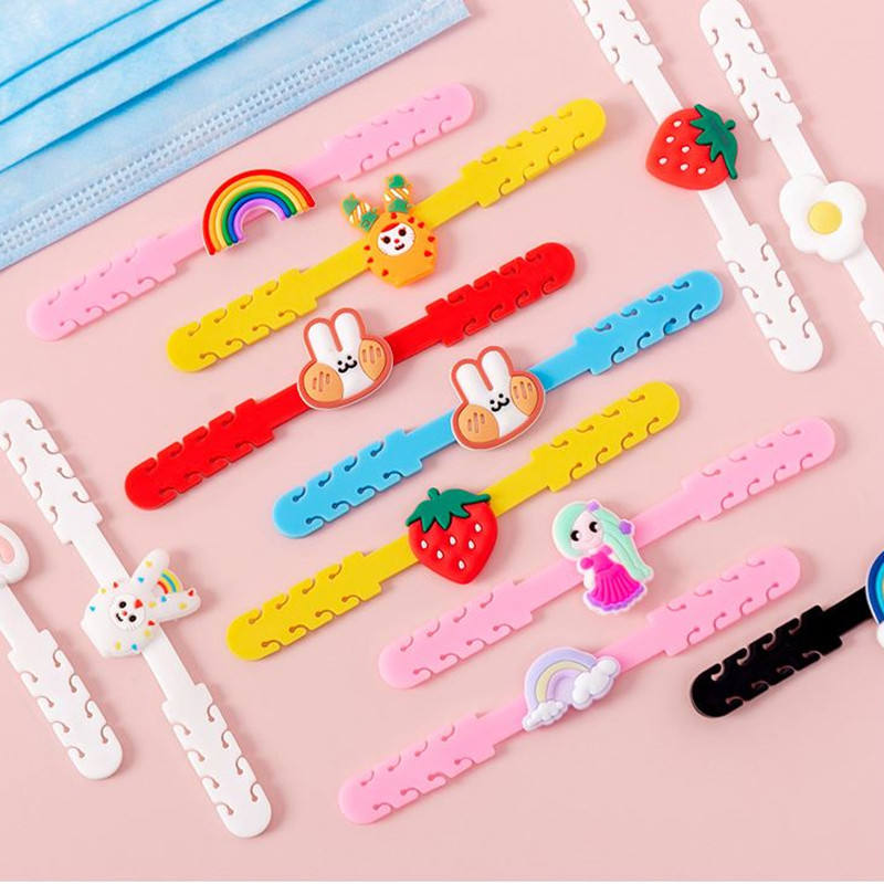 Cartoon FaceMask Ear Hooks Adjustable Anti-slip Ear Protection Ear Grips Extension Hook Masking Buckle Holder for Kids