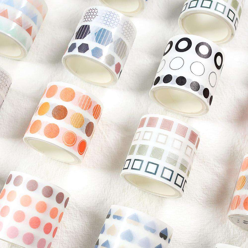 Hot Sale Customized Washi Tape Colorful Dot Print Masking Tape for DIY Hand Account Decoration 40mm*3m