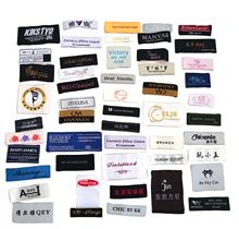 Customized Private Design Woven Damask Logo Tag Wholesale Woven Label Private Labels For Clothing Labels