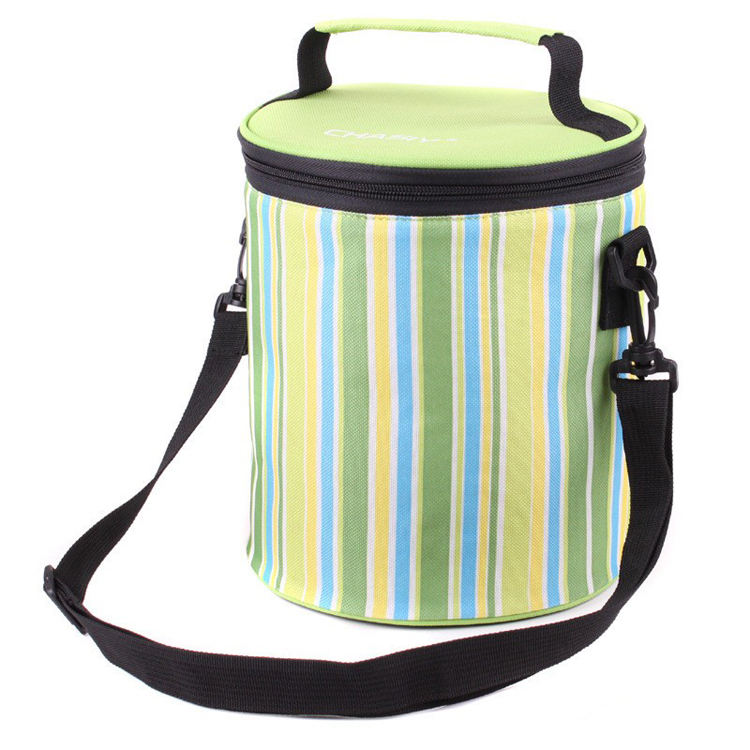 Wholesale OEM Thermal Round Printing Insulated Lunch Bag for Picnic