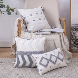 Cushions for home decor with tassel 18x18 boho cushion Morocco Cushion Covers Throw Pillows For Home Decor