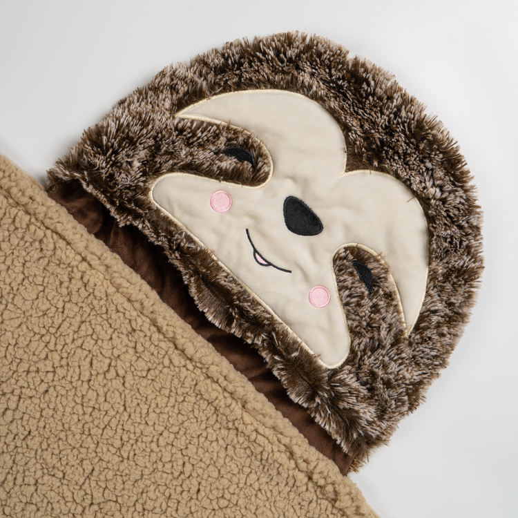Sloth Wearable Hooded Blanket for Adults Super Soft Warm Cozy Plush Flannel Fleece & Sherpa Hoodie Throw