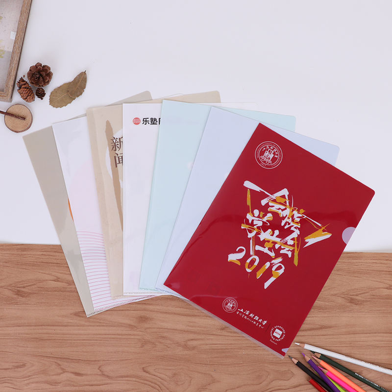 Hot sale custom high quality school stationery 50pcs per bag kawaii plastic pocket clear file folder