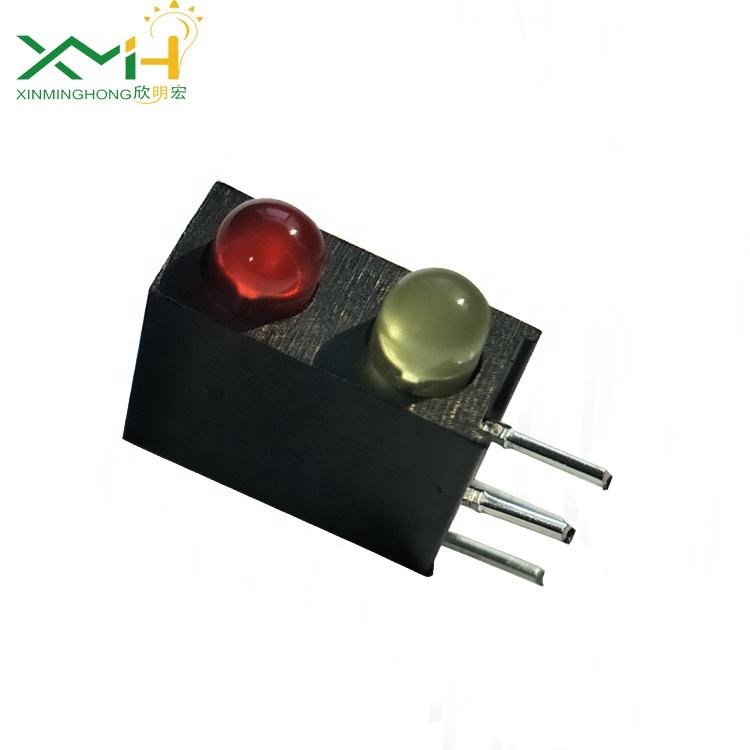3mm bicolor leds bicolor (red and yellow) led diode with led holder