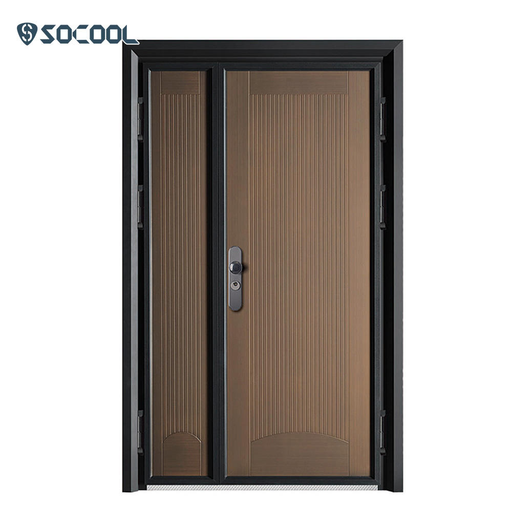 Customized oversize aluminum casting heavy strong entrance steel door