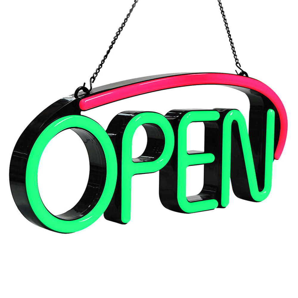 open close sign shop open business led lighting 24 hours neon store led open sign