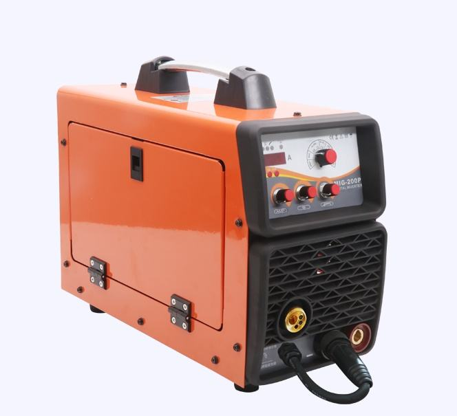 Single Phase Mini Mig Welding machine CO2 MMA/TIG/MIG MAG 200A Pulse IGBT mig welding machine Aluminum mig welder MIG200P
