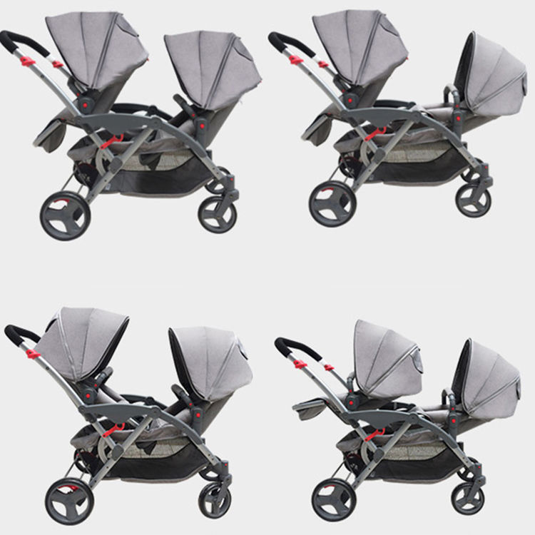Oxford Hot Sale Walkers Twins Child Stroller Twin Double Baby Strollers