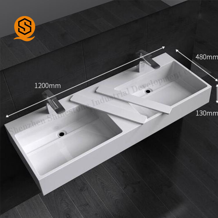 Factory OEM Exquisite Technical Commercial Artificial Stone Bathroom Vanity Tops Durable Wash Basin Counter Top