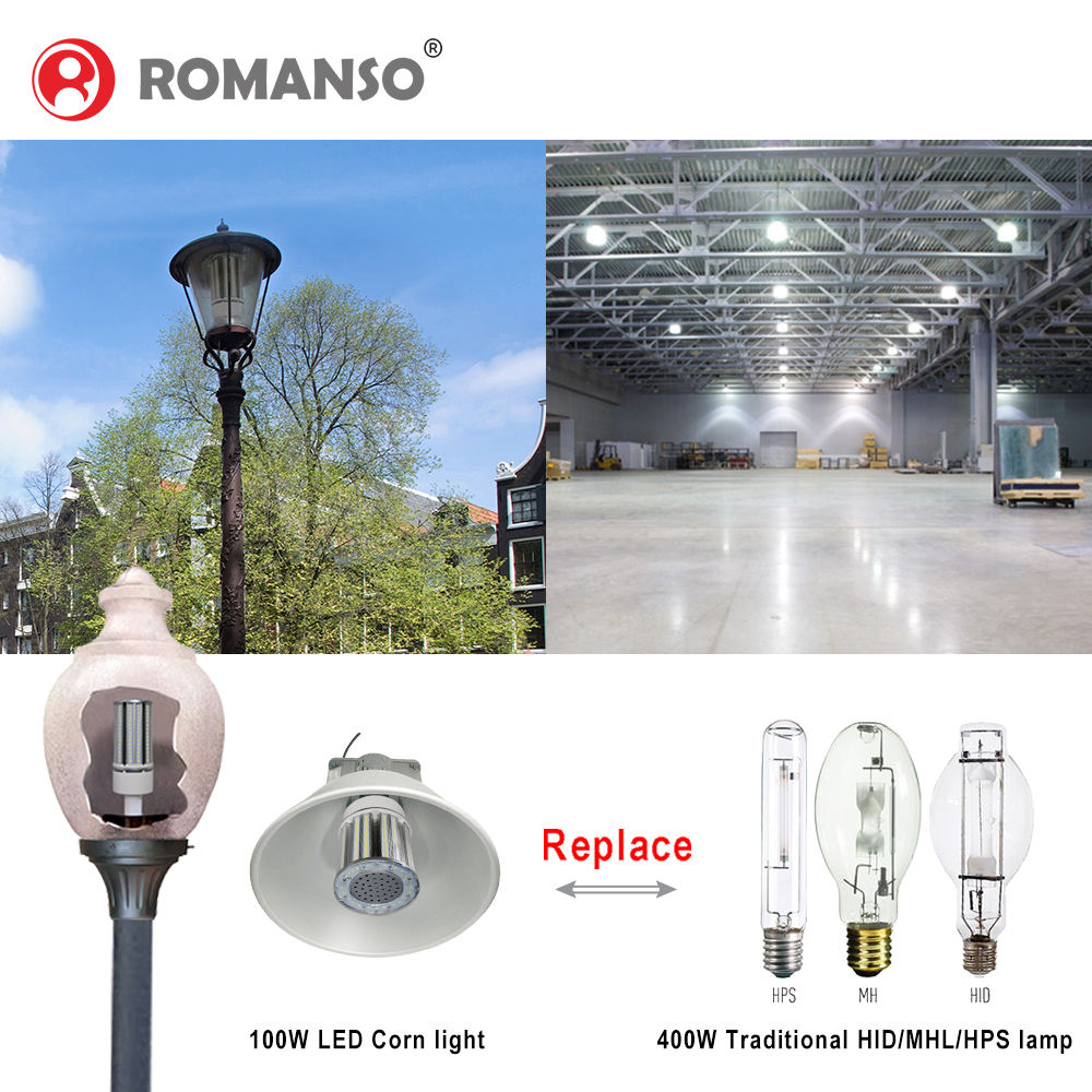 For Indoor [ Bulb ] Super Bright 130Lm/W E27 E40 Led Corn Bulb Lighting 16W 45W 54W 100W 120W Led Lamps For 5 Year Warranty