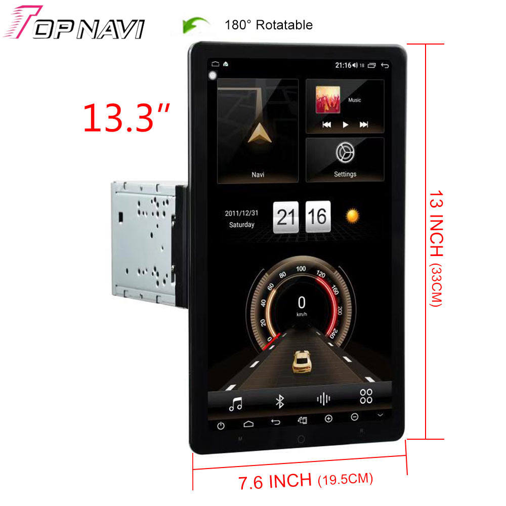 Tesla-Style 13.3 Inch Android 9.0 Auto Radio Player 2 Din Rotatable Universal Car Video Radio Stereo GPS Navigation DVD GPS