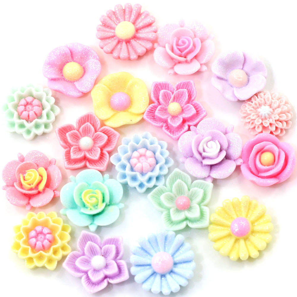 Glittering Low Price High Quality New Fashion Design Flower Style Resin Bead for Craft Decoration
