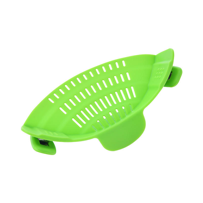 2021 Wholesale Amazon hot sale colorful kitchen snap n strain strainer for fits all pots and bowls