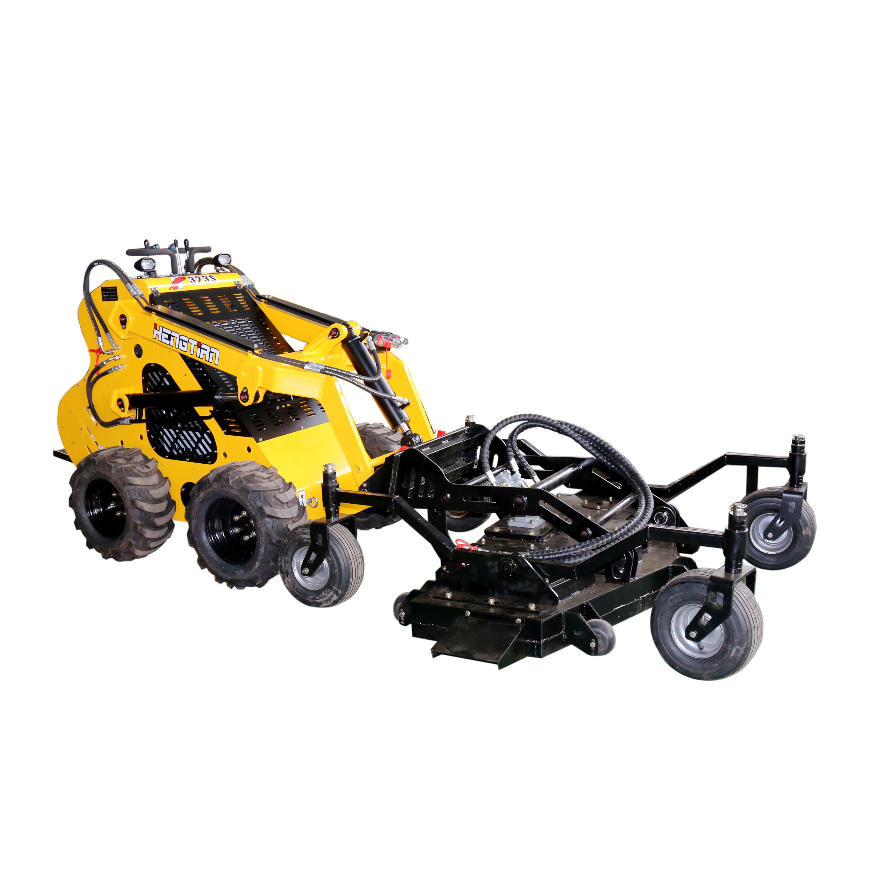 small garden tools mini skid steer garden loader with lawn mower for sale brush cutter
