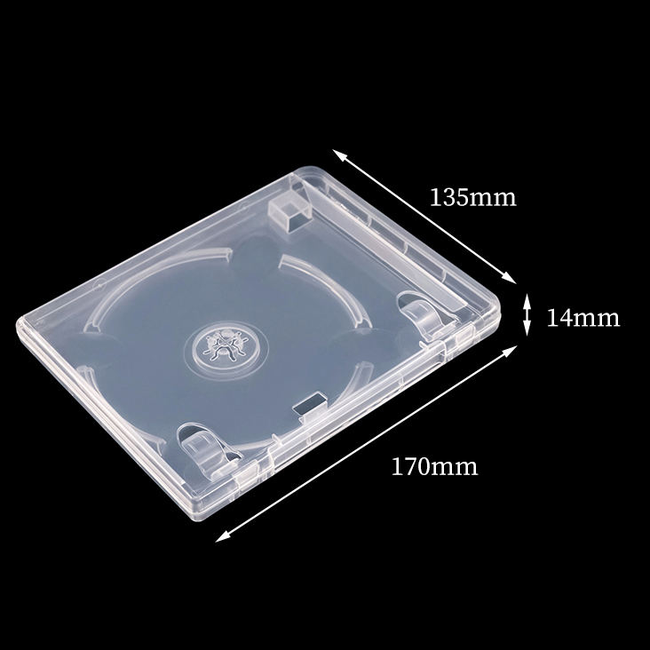High Quality 14MM Plastic Multi Transparent Clear Mini Case Box Holder For USB Flash Drive With DVD Customized LOGO Acceptable