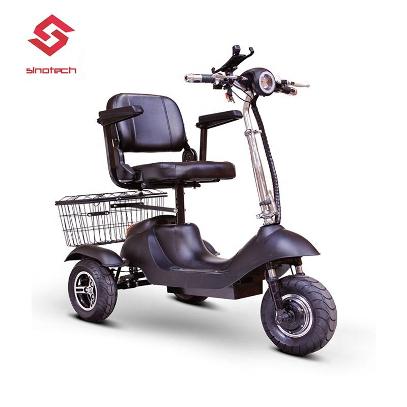 Sporty 3 Wheeled Electric Mobility Scooter - 15 MPH High Speed Electric Scooter