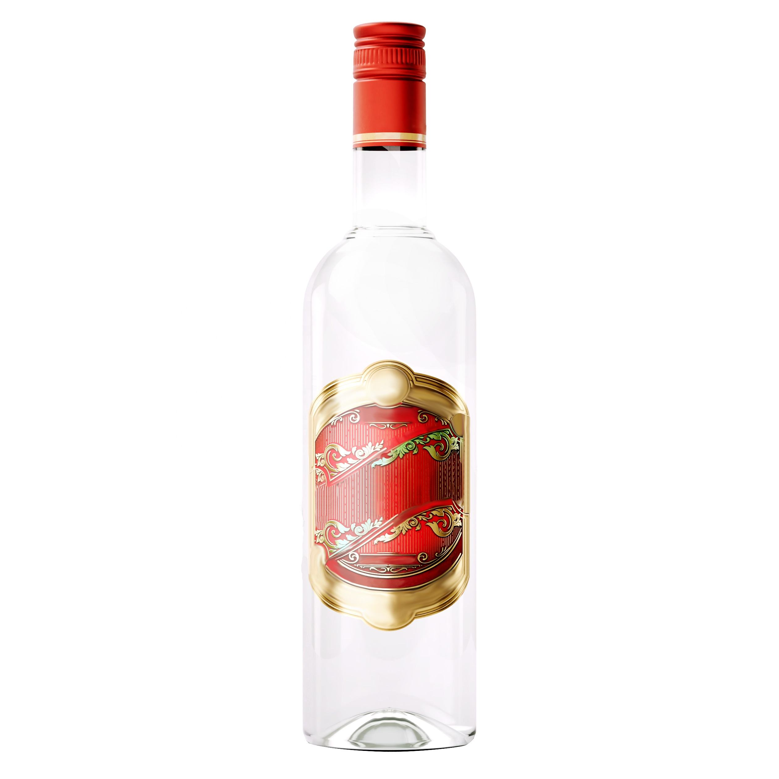 Premium Quality Russian 40% OEM Custom Vodka Based on Lux Spirit, 500 ml
