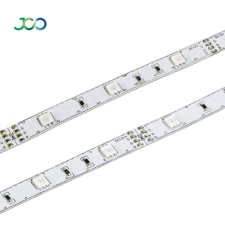 JS Smart LED Outlet Multi Warna Strip Light 12 V SMD 5050 30 LED/M Kolam Fleksibel Lampu LED strip Remote Tira LED China