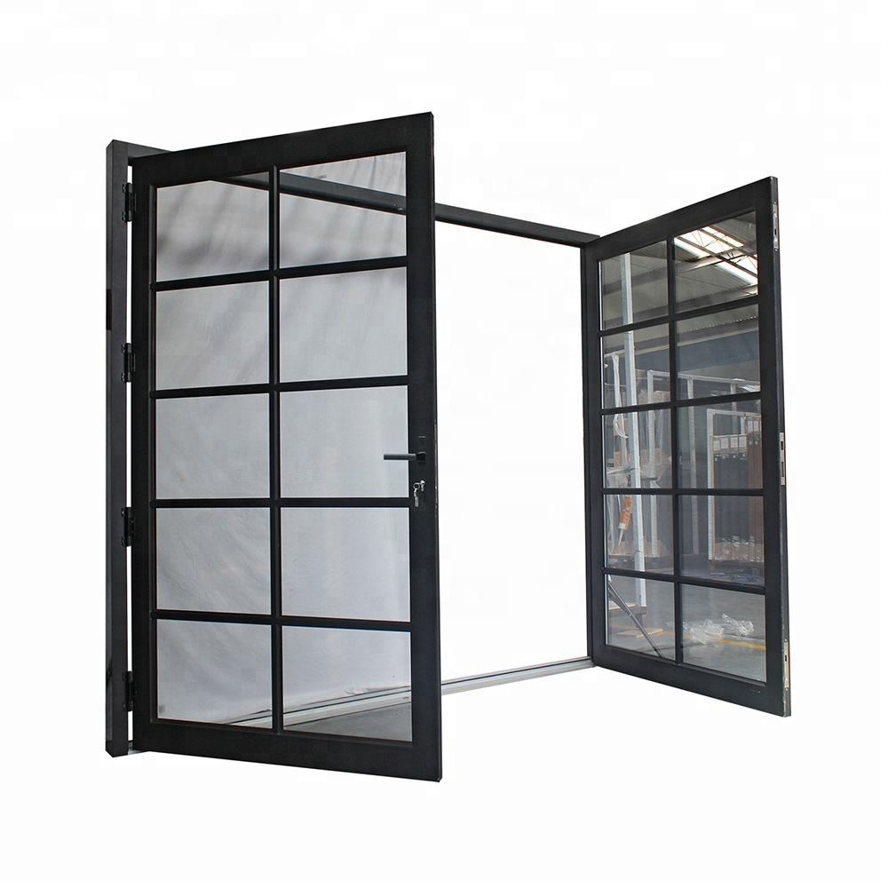 Factony Price Double Sided Systems Rollers Sliding Doors Entry Doors Interior Aluminum Alloy + Glass Slding Door Modern Finished