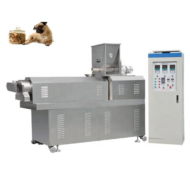 Small capacity pet food machines animal feed pellet processing machinery plant for double extruded pet food