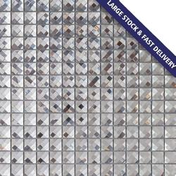 13 Silver Diamond Mirror Glass Mosaic for Wall Decoration